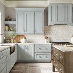 kitchen-remodel-in-Decatur-ga-kraftmaid-seafoam-blue-maple-cabinets-kitchen-island