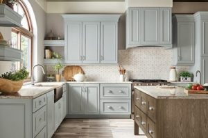 kitchen-remodel-in-Decatur-ga-kraftmaid-seafoam-blue-maple-cabinets-kitchen-island